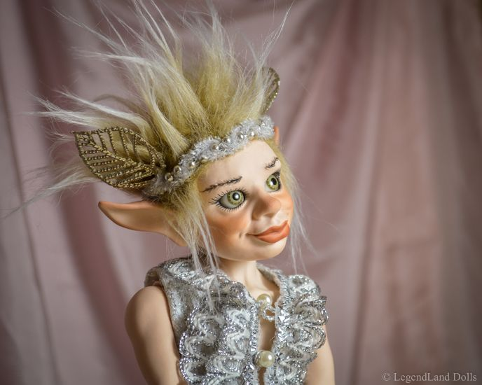 Elf art doll, ooak porcelain male doll. Handmade, limited edition.
