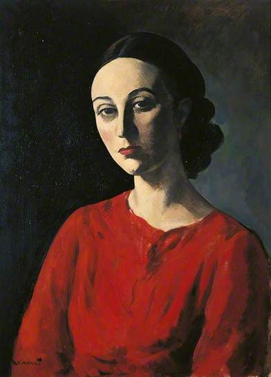 'Portrait of a Lady' by Jacob Kramer, Date painted: c.1935