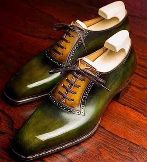 Leather Cap-Toe Lace up Oxford Dress Shoes