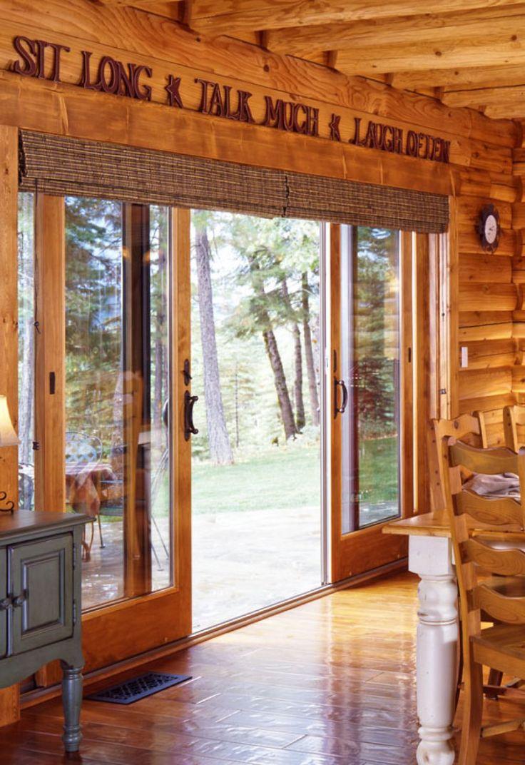 32 Best Sliding Doors Images On Pinterest: Slliding Glass Door With A Rustic Look
