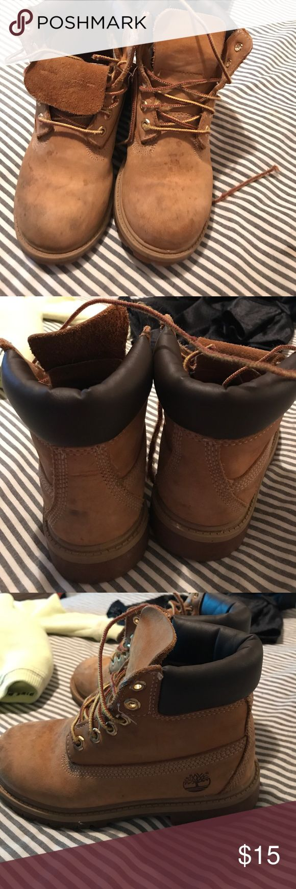 Little boys timberland boots There is a LOT OF WEAR. Price is negotiable Timberland Shoes Boots