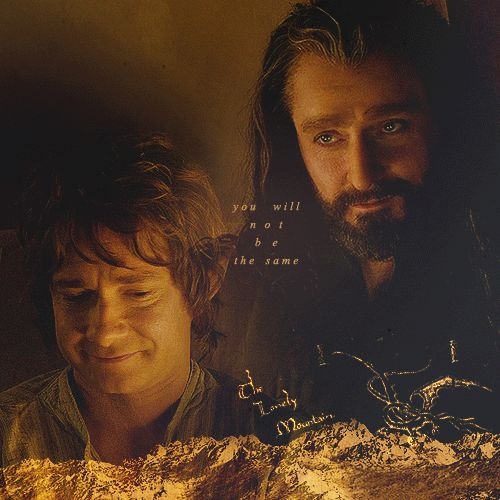 Bilbo and Thorin. Okay, please excuse me while I go curl up into a ball and drown in my tears.