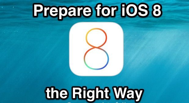 Hoe to Prepare for the iOS 8 Update the Right Way #CMIEvo