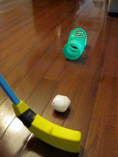 Indoor Counting Croquet - fun indoor activity for little ones!