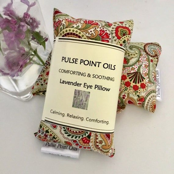 Yoga Reiki Meditation Eye Pillow Floral Paisley Headache Etsy Small Gifts Lavender Eye Pillows Get Well Gifts