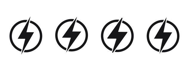 lightning electric power vector logo design element energy and thunder electricity symbol concept lightning bolt vector logo design logo design vector logo lightning electric power vector logo