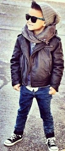 Cute little boy with swag