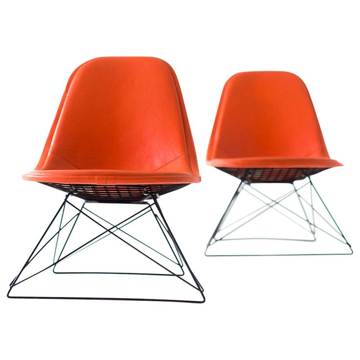 Ray and Charles Eames LKR-1 Lounge Chairs for Herman Miller   From a unique collection of antique and modern lounge chairs at https://www.1stdibs.com/furniture/seating/lounge-chairs/
