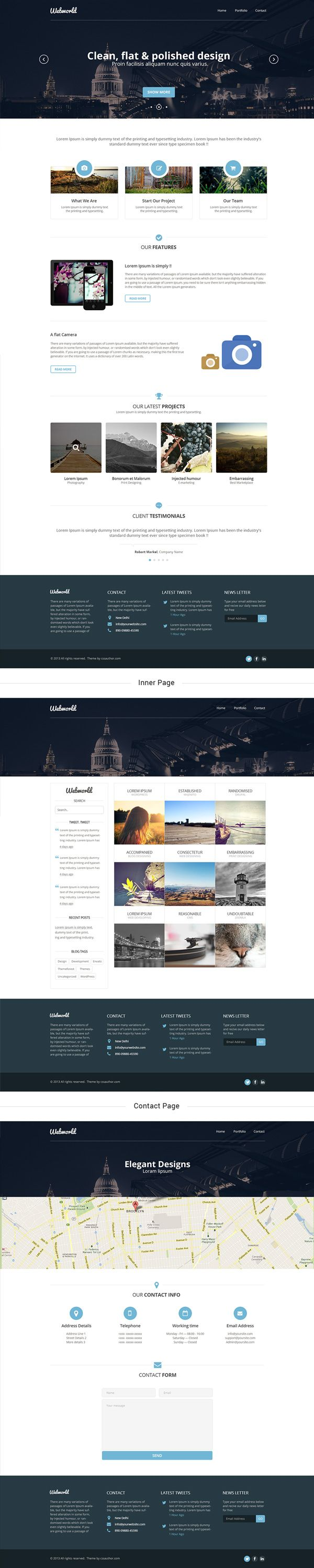 Cool Corporate Web Design Template PSD. Today's featured freebie is a professional website PSD template from CSS Author. This template is designed based on standard 1024 px width and can be used for any kind of web design projects. #featured #freepsd #freebie #freemium #premium #resource #template Check more at http://psdfinder.com/free-psd/corporate-web-design-template-psd