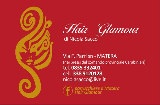 New business card Hair Glamour-Matera (retro)