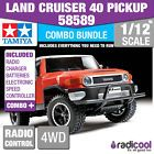 ﹩397.76. COMBO DEAL! 58589 TAMIYA LAND CRUISER 40 PICK-UP (GF-01) 1/12th RADIO CONTROL KI    Manufacturer Part Number - 58589, Product Group - 1/12 TRUCK, Product Group Description - In 1976, Tamiya entered the RC market with their f, Description - This is the NEW GF-01 chassis platform. The first, Scale - 1/12th, Contents - This is a multiple choice advert for this Tamiya r