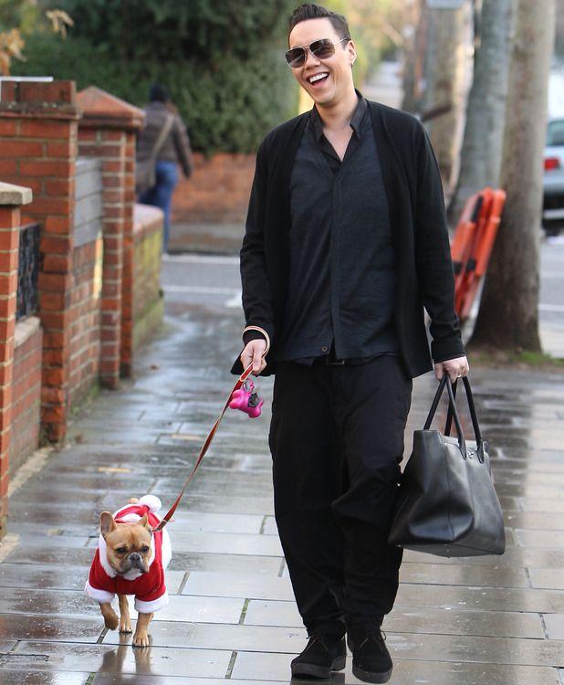 Celebs and their pets at Christmas / PetsPyjamas. Gok Wan and his mini French bulldog Dolly Dishcloth!