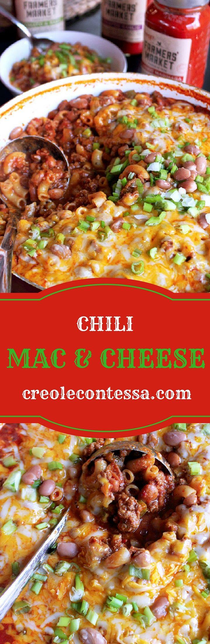 Chili Mac & Cheese with Prego® Farmers' Market-Creole Contessa #ad #PickedAtPeak