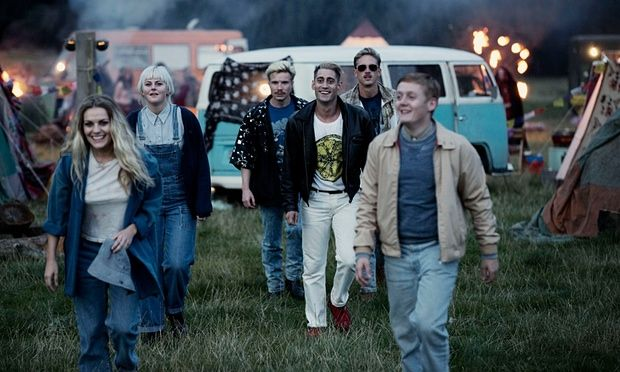 Get loaded, have a good time… Chanel Cresswell as Kelly, Danielle Watson as Trev, Joe Dempsey as Higgy, Michael Socha as Harvey, Perry Fitzpatrick as Flip and Thomas Turgoose as Shaun in This is England 1990