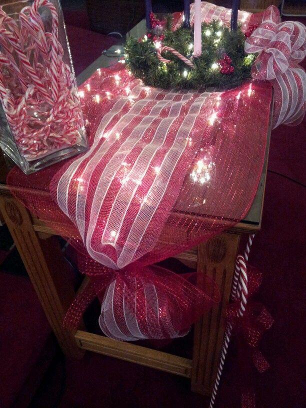 Decor mesh table runner  Christmas ideas  Mandi