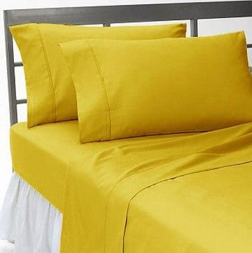 600TC Solid Gold Full XL Flat Sheet & 2 Pillowcases asian sheets