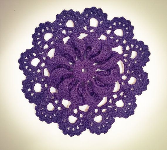 Hey, I found this really awesome Etsy listing at https://www.etsy.com/listing/474466953/purple-3d-doily-purple-twisted-doily