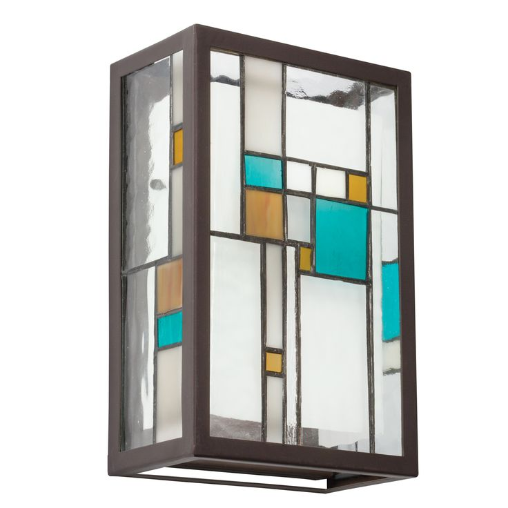 Two Light Tiffany Wall Sconce