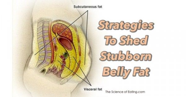 A very informative article about stubborn belly fat and how to get rid of the mu...