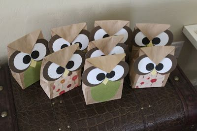 Owls O.O: DIY Owl treat bags 2