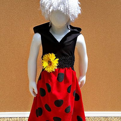 Lady Bug Maxi Dress, Red, Black, Hoodie, Tank, Long Tee Shirt Dress, Toddler, Girls, Sizes 12M-4T by CreativeTeesForTots on Etsy