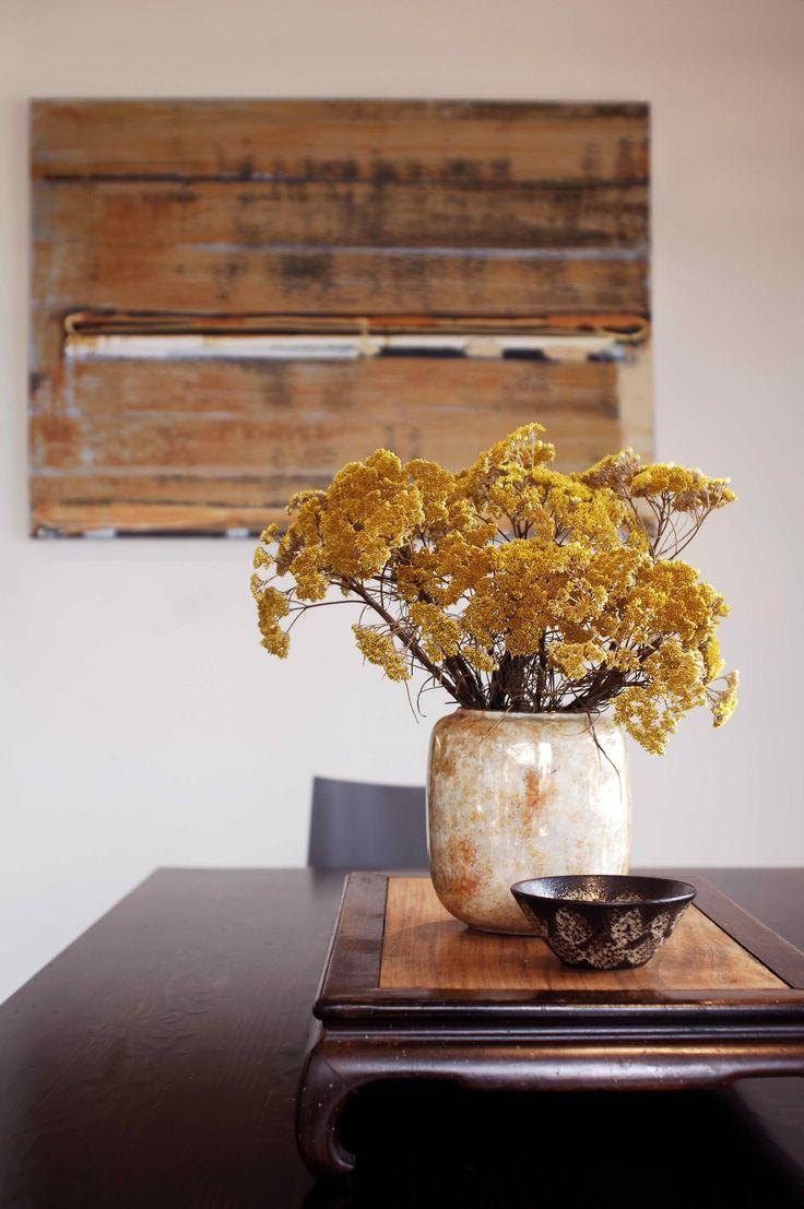 Kitchen detail with Dale Frank artwork. Brooke Aitken Design.