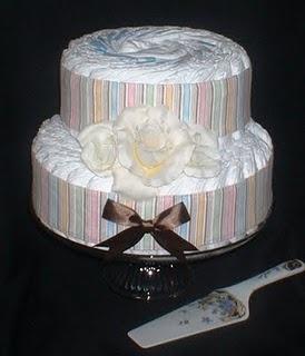 2-Tier Diaper Cake: Pañales Diapers Cakes, Diaper Cakes