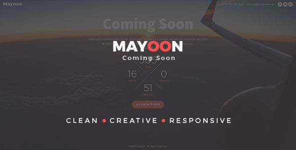 Clean & Responsive Coming Soon Template just $16