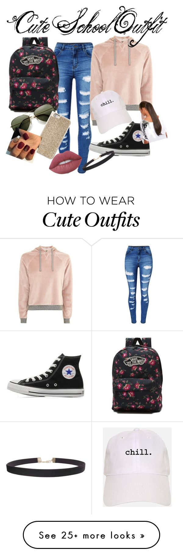 """Cute School Outfit"" by riley-28 on Polyvore featuring WithChic, Topshop, Converse, Vans, Michael Kors, Humble Chic and Lime Crime"