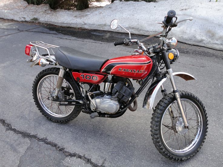 1974 Kawasaki G4TRD 100cc  Has a dual range transmission with 5 low gears for off road and 5 high gears for on road. I owned this one!