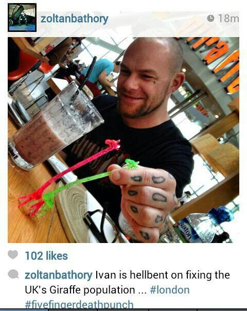 Ivan Moody being dirty!!! ;)