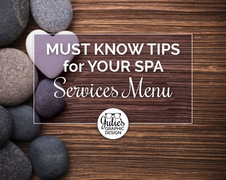 Your spa services menu can be your biggest selling tool. If it's put together correctly it can bring you more revenue. These are a few ways you can be sure your services menu is a success.  Don't draw attention to prices. If prices are in a column, it will result in price shopping. Try staggering the prices three spaces from the last letter of the menu description. Limit the use of dots or dashes to keep the customer's attention on the service instead of the price.  Keep it simple. It's
