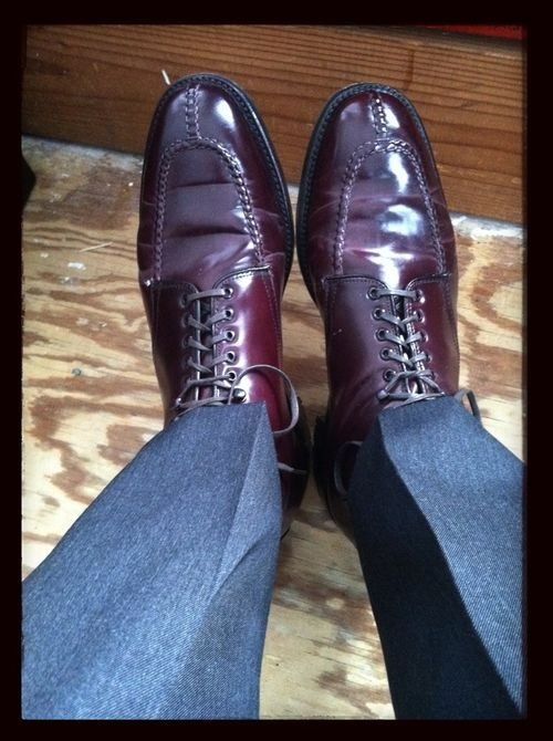 Alden #8 shell cordovan norwegian split toe boots