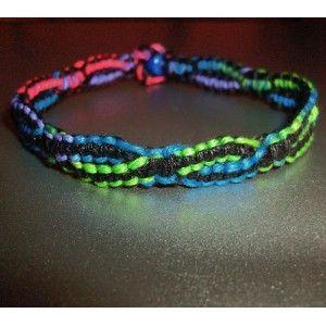 Hemp Bracelet Patterns | DNA Strand Thick Rainbow Hemp Bracelet - PsySub Hemp Jewelry & Design