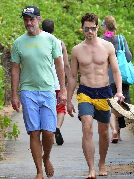 Matt Bomer and Simon Halls on the Beach In Maui                                                                                                                                                      More