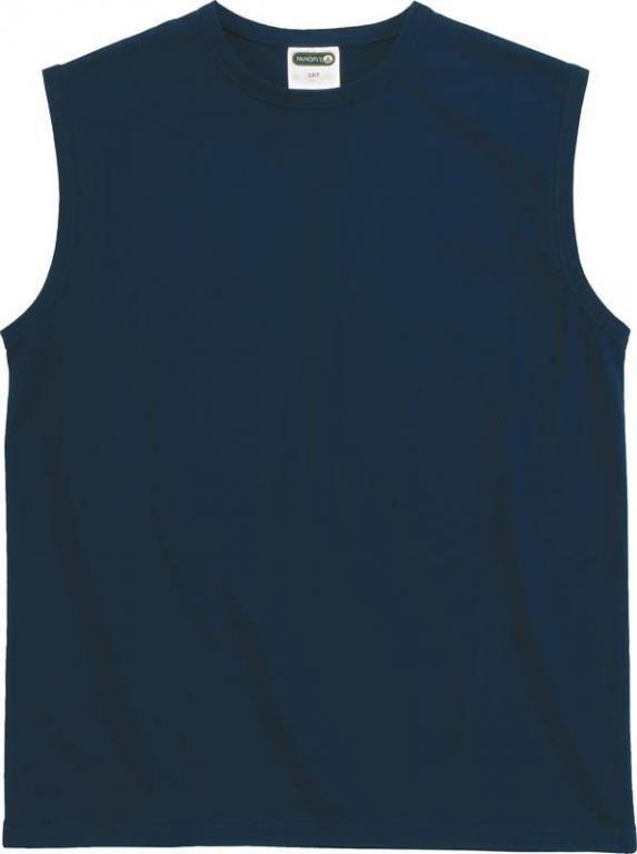 T-shirt bez rękawów HELMER 100% bawełna szary rXXL