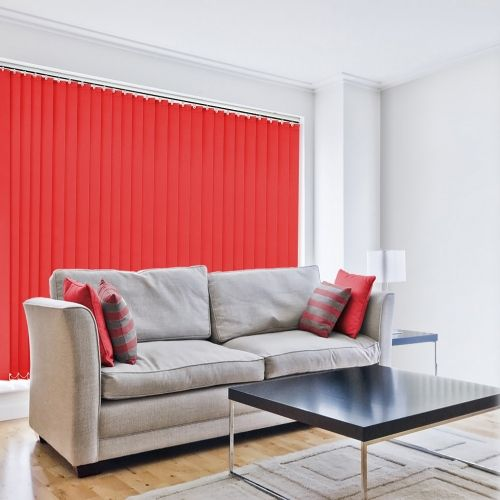 Sale Poppy Red 89mm Vertical Blind