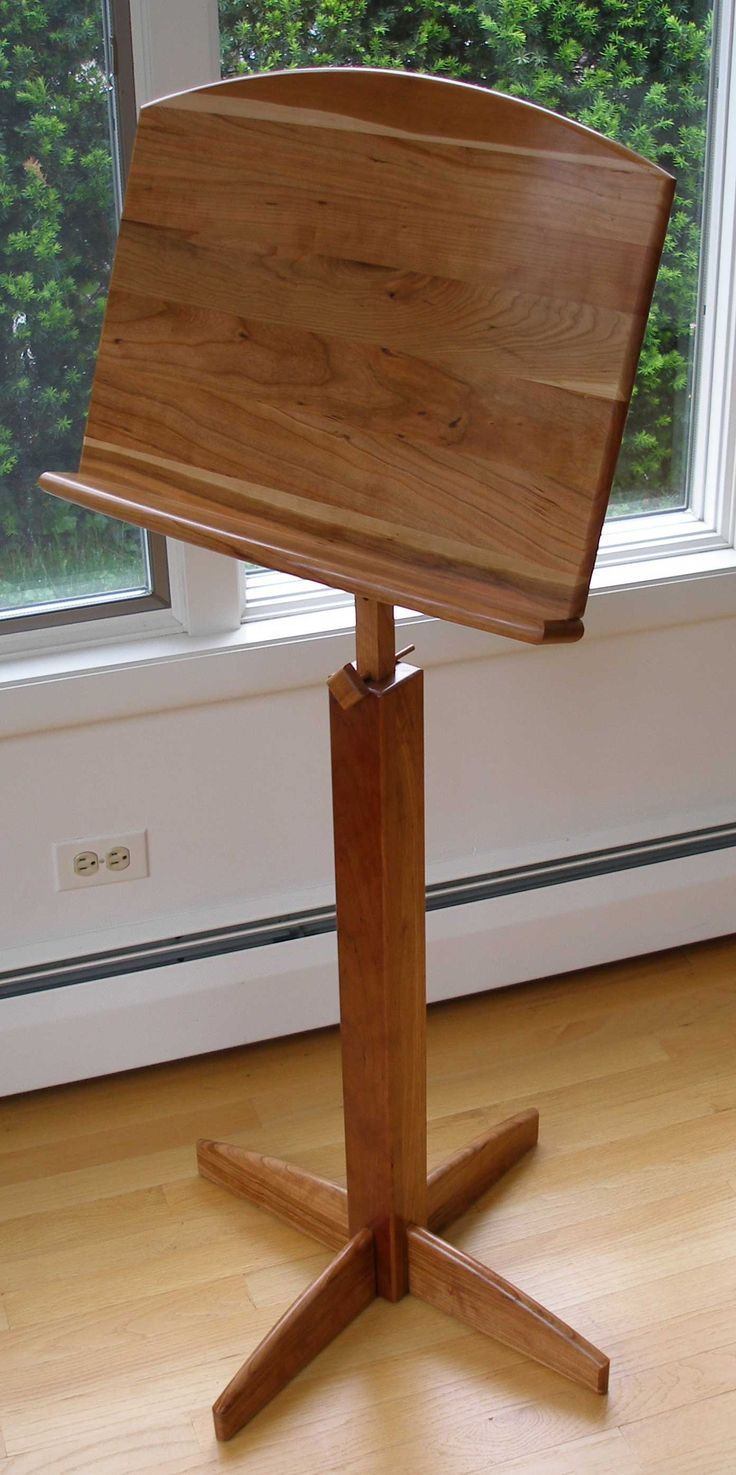 Cherry Music Stand Wood Projects Pinterest