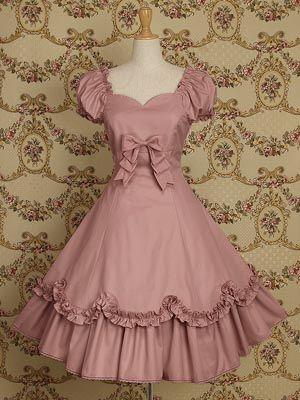 Light Pink Cotton Classic Lolita Dress
