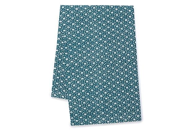Set of 2 Criss Cross Tea Towels, Teal on OneKingsLane.com