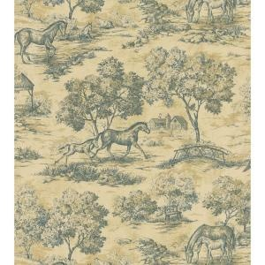 HORSEY TOILE! Brewster 56 sq. ft. Toile Wallpaper - Model # 145-62648 at The Home Depot
