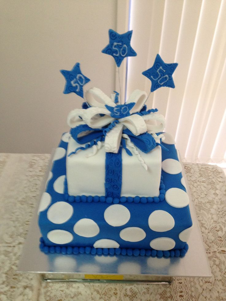 50th Birthday Cake In Royal Blue Cakes I Have Made