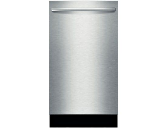 """18"""" Special Application Bar Handle Dishwasher SPX5ES55UC  Bosch dishwashers are so quiet, you may forget they're on. InfoLight® projects a red light onto the floor to let you know it's on."""