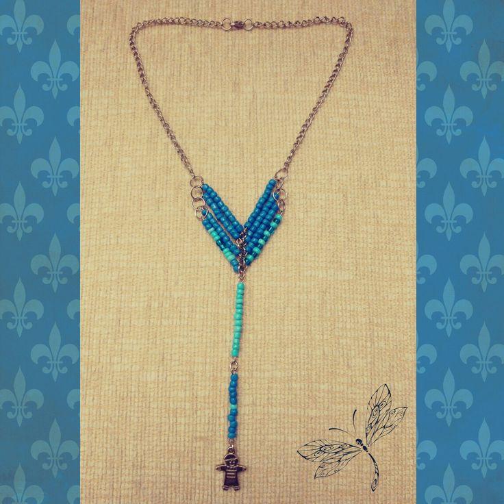 kolye, kolyeler, mavi boncuk kolye, incik boncuk, deniz mavisi, necklace, takı, el emeği, ben yaptım, jewellery