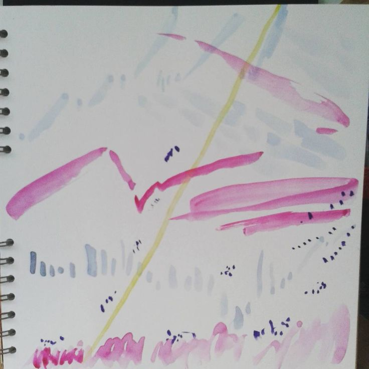 #watercolour #abstractart #doodles cant remember what the song was..