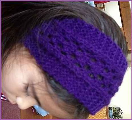 This easy lacy headband knitting pattern is just one examples of how simple it is to incoperate lace stitch into everyday knitted items.
