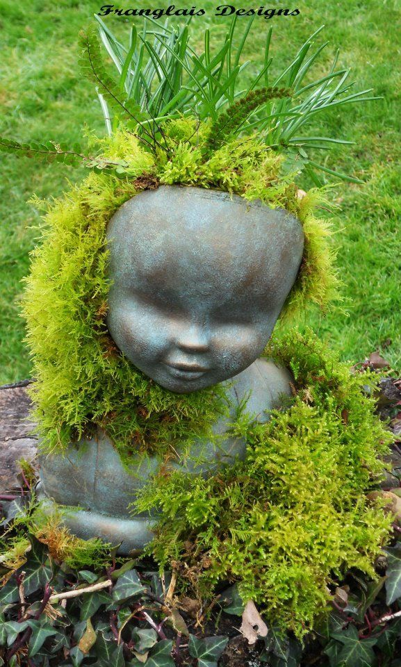 Turn Old Dolls Into Beautiful Garden Decorations – Recycle/Upcycle