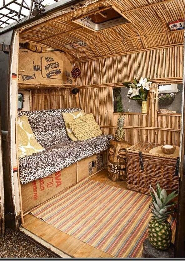 VW Van for Asia fans - travel in style with a bamboo interior... YES PLEASE VWDT  #Boracay