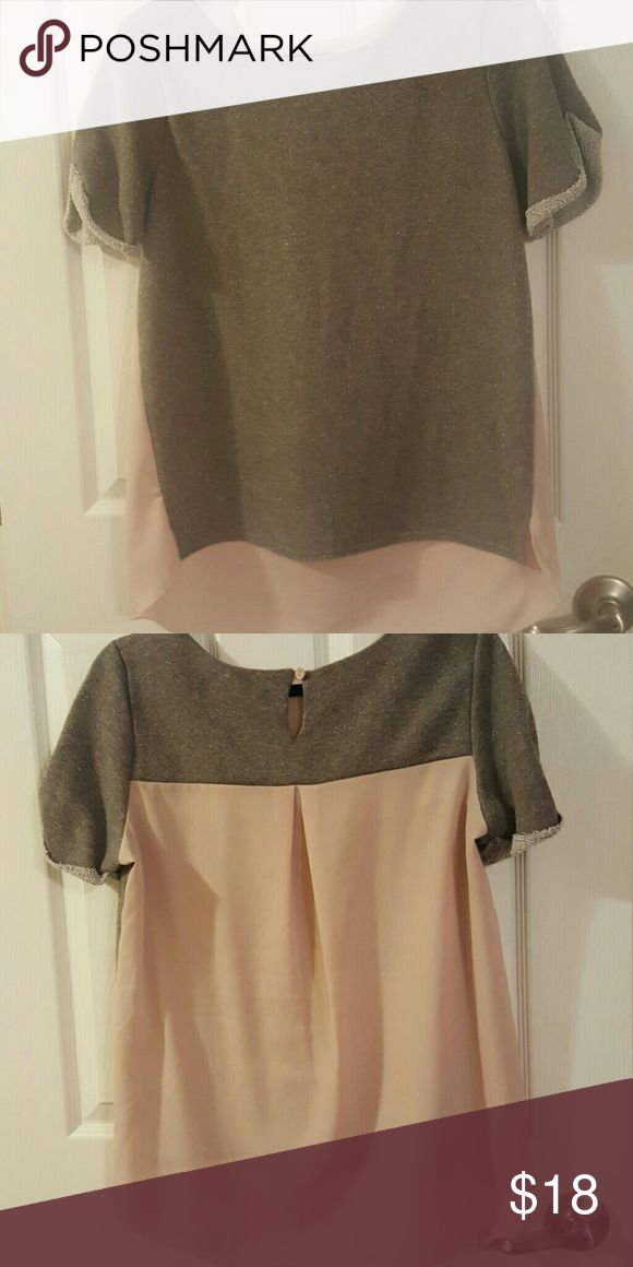 American Eagle shirt The grey is sparkled and the light pink is a sheer material. American Eagle Outfitters Tops Sweatshirts & Hoodies
