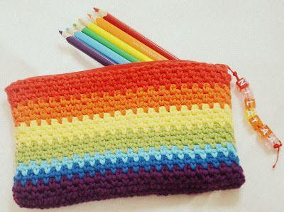 Crochet Pencil Cases. Link tutorial at bottom of blog post